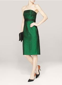 Thomas Wylde - Embellished strapless dress | Blue and Green Cocktail Dresses
