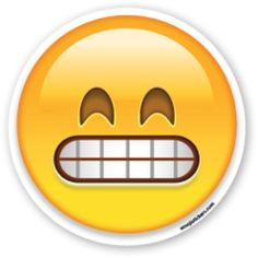 Grinning Face with Smiling Eyes | Emoji Stickers
