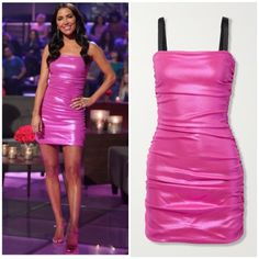 Barbie Girl // Get details on Kaitlyn Bristowe's Pink Dress with the link in our bio / Shoes: Jennifer Chimandi 📸 = @abcnetwork // Craig Sjodin Kaitlyn Bristowe, Pink Dress, Steve Madden, Barbie, Bodycon Dress, Link, Outfits, Shopping, Shoes