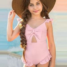 2019 Vieeolove 2018 New Korean Kids Floral Swimwear Kids Bathing Suits Swimming Beach Split Swimsuit Girls One Piece Swimsuits VL.
