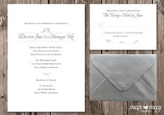 Love Birds Wedding Invitation by Max and May Design http://www.etsy.com/listing/90702327/love-birds-wedding-invitation-rsvp-card