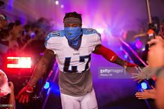 Antwon Blake #47 of the Tennessee Titans comes down the tunnel before a preseason game against the Carolina Panthers at Nissan Stadium on August 20, 2016 in Nashville, Tennessee. The Panthers defeated the Titans 26-16.