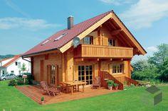 ➤ Klick auf das Bild, um direkt zu unserer Auswahl an Holzhäusern zu gelangen ➤ Dazu findest du ein großes Angebot von Häusern aller Art auf www.Fertighaus.de ______ Holzhäuser Architektur, Hausbau, Holzhaus kaufen, Blockhaus bauen, Eigenheim