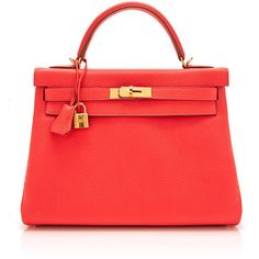 Heritage Auctions Special Collection Hermes 32Cm Rose Jaipur Clemence... (927,315 DOP) ❤ liked on Polyvore featuring bags, handbags, genuine leather handbags, 100 leather handbags, leather handbags, rosette handbag y hermes purse