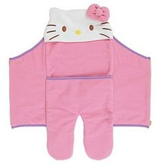 Hello Kitty baby wrap with adorable hood :)