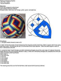 English instructions for this beautiful temari