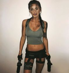 Laura Croft, Tomb Raider costume - COSPLAY IS BAEEE! Tap the pin now to grab yourself some BAE Cosplay leggings and shirts! From super hero fitness leggings, super hero fitness shirts, and so much more that wil make you say YASSS! Costumes Sexy Halloween, Couples Halloween, Halloween Inspo, Halloween 2018, Halloween Cosplay, Halloween Party, Lara Croft Halloween Costume, Halloween College, Halloween Outfits For Women