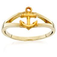 Loyalty Ring with Anchor. I want this so bad but in Sterling Silver (Price $87.00)