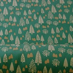 Japanese Printed Needlecord - Jade Forest