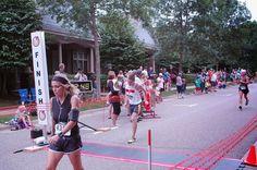 Cody running 5K @Monticello Riverfest 2014.