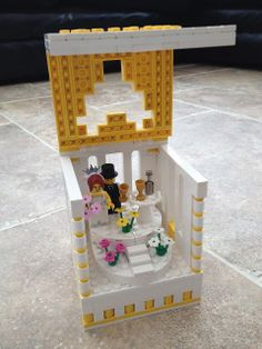 Custom Lego wedding gift bride groom