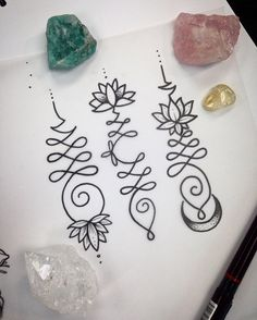 3 more unalomes I'd like to tattoo if anyone is keen dm me #unalome #unalomes�