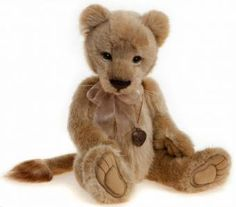 Charlie Bear LYRA Lion (Plush): by Charlie Bears . Charlie Bear LYRA Lion (Plush) (Size: is a collectable Plush Teddy Bear. Love Bears All Things, Fun Things, Bear Shop, Christmas Teddy Bear, Charlie Bears, Cute Teddy Bears, Plush Animals, Stuffed Animals, Kitty