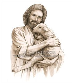 Jesus the good shepherd and perfect lamb. Description from pinterest.com. I searched for this on bing.com/images