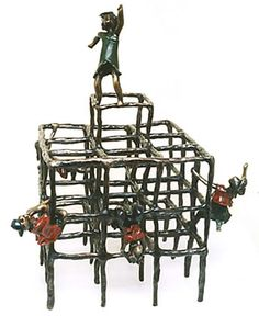 Trepa-trepa - bronze - 56 x 25 x 25 cm - 2003