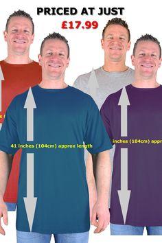 Large Mens Navy Extra Tall T Shirt//Nightshirt L XL 2XL 3XL 4XL 5XL 6XL 7XL 8XL