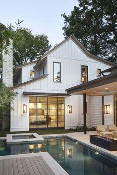 Mountain Home Exterior, Dream House Exterior, Home Exterior Design, House Ideas Exterior, Home Exteriors, Cottage Exterior, Exterior Siding, Exterior Remodel, Yellow House Exterior