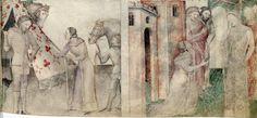 BNF Nouvelle acquisition française 5243 Guiron le Courtois. 1380's Milan. Painted tent swag.