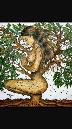 A Deusa que havira em mim saúda a deusa que habita em você. Beto Jamaica, Proportion Art, Plaster Sculpture, Natural Hair Art, Black Love Art, Illusion Art, Hippie Art, Pencil Art Drawings, Tree Art