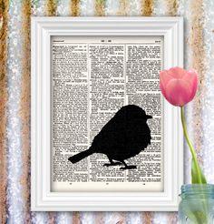 Spring Bird Print bluebird bird silhouette von ThePrintedMenagerie, $8,00