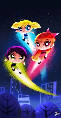 The Powerpuff Girls - Created by Gaby Zermeño