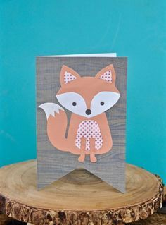Adorable fox card with Sizzix Lori Whitlock fox die