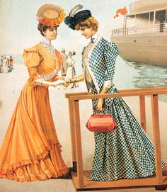 Стиль модерн в одежде 1900-е