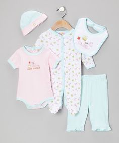 Look at this Pink 'Let's Make a Handicraft' Five-Piece Layette Set - Infant on #zulily today!