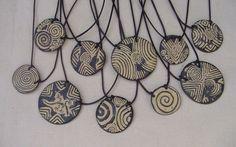 Bisuteria Collar de cerámica Raku
