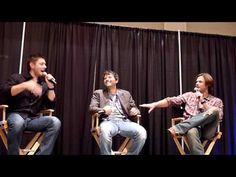 """Jared describes the most ambigious scene: """"It's that scene where we're in a hotel.. I think we're all in it, and Castiel's talking about angels or something. Dean says something funny and Sam's acting all big.""""     #Supernatural"""