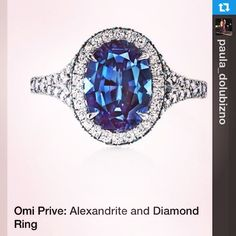 #Repost from @paula_dolubizno #alexandrite #omiprive --- If you didn't see this beauty or try it on at the show... You missed out on something incredible. @omiprive has the most stunning Alexandrite pieces. They even put Alexandrite melee in the basket/gallery detail #luxury2014#jck#omi#alexandrite#stunning#rare#ringblings#jck2014#couture#beautiful#halo#splitshank#haloengagementring