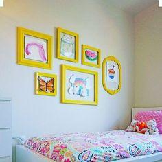 Marcos para que cuelguen sus dibujos y nos decore la habitación de los peques. Les encantara, es original , fácil y divertido , pinta unos…