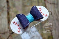 Baseball Bow ITH Felt Bow
