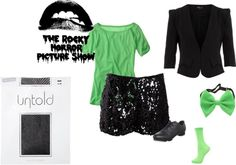 """""""Rocky Horror Picture Show - Columbia"""" by hannah-fitzgerald on Polyvore"""