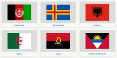 Flags of the world in just one div
