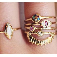 And other rings I love to sit with @communionbyjoy sold @loveaudryrose such a delicious combo of color