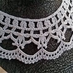 Lace silver collar necklace, Lace collar dress, Accessories, Scarves Wraps, Collars Bibs, Collars, Handmade, Crochet lace collar by MyWealth on Etsy
