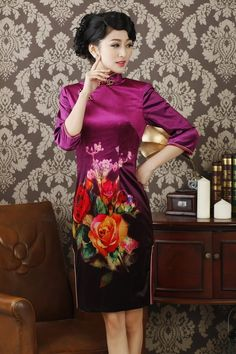 Style: short qipao sleeve style:  short Collar shape: stand Fabric: cotton Size:  S M L XL XXL Characteristics:Elegant Design: hand-painted Purchasing from the factory directly, cheap, selling, new style, fashion.Thickness and softness moderate.
