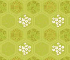I aspire to pie-ness (blossoms of apple, sugar, cinnamon, nutmeg, and wheat) fabric by mongiesama on Spoonflower - custom fabric