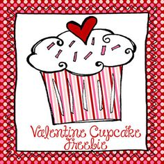 Freebie Valentine Cupcake