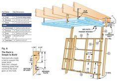 Fold-Down Cutting Rack - Popular Woodworking Magazine