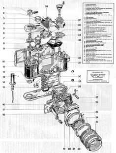 These Schematics Offer an Exploded View of Old Nikon SLR Cameras boh2SIn