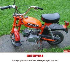 motorynka Poland People, Fiat 126, Nostalgia, Old Motorcycles, Classic Motors, Techno, Retro Vintage, Childhood, Bike