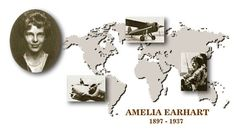Biographical information of Amelia Earhart, including the early years, the celebrity, and the last flight.