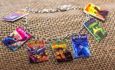 Harry Potter book covers charm bracelet