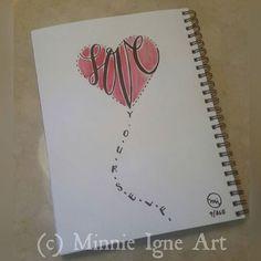 "#MotivationalMonday ""Love Yourself""  Day 9/365 #artjournalchallenge  #inspire365 #MinnieIgneArt #mixedmediaartist #artist #artjournal #artjournaling #inspirequotes #watercolor #handwritten #calligraphy #typography #inspiringthroughcreativity #uplifteachother #btwf"