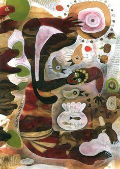 Painting by:  Mansoureh Hosseini - Iran