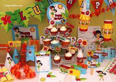 Hawaii Luau BIRTHDAY Party Kit -Printable PDF Complete Set 0004. $10.00, via Etsy.