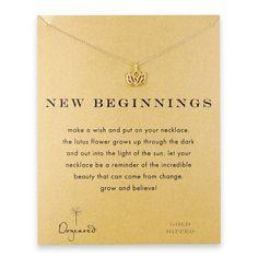 Dogeared Gold New Beginnings Lotus