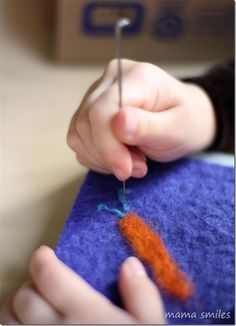Needle felting for kids with Artterro